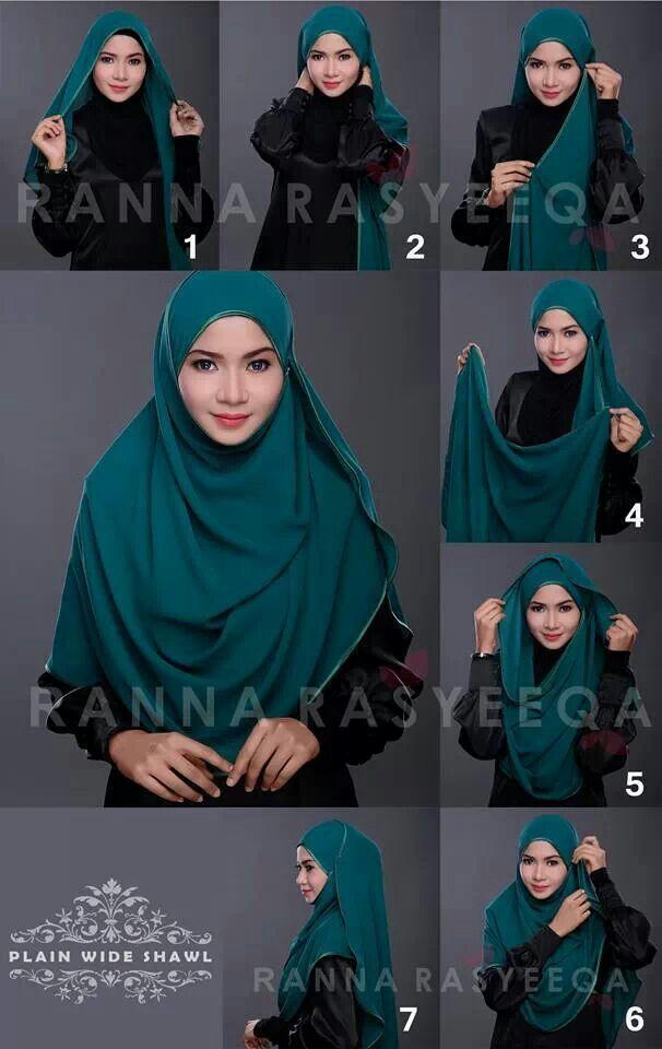 how to wear a shawl hijab