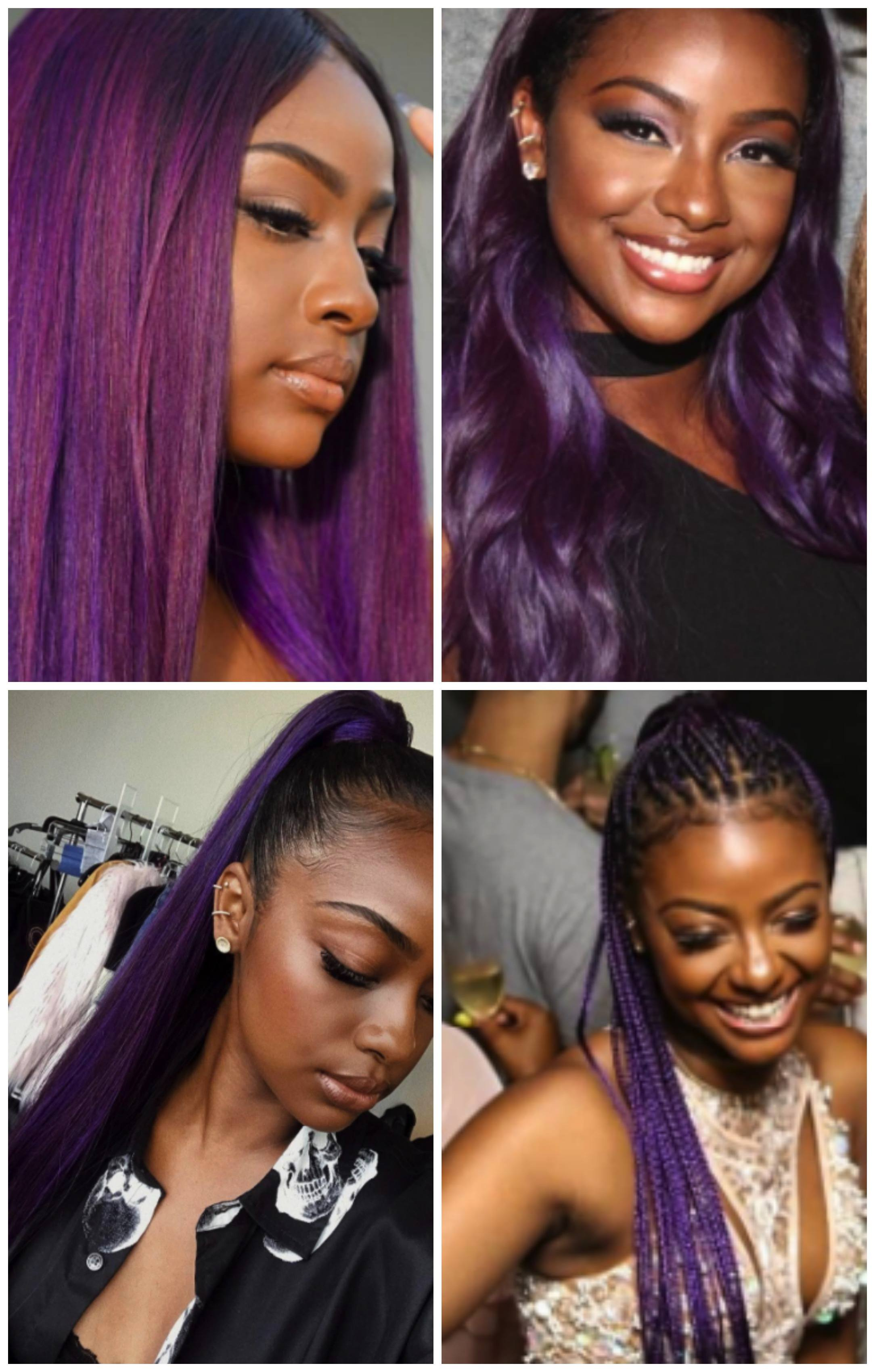 purple hair ideas for black girls