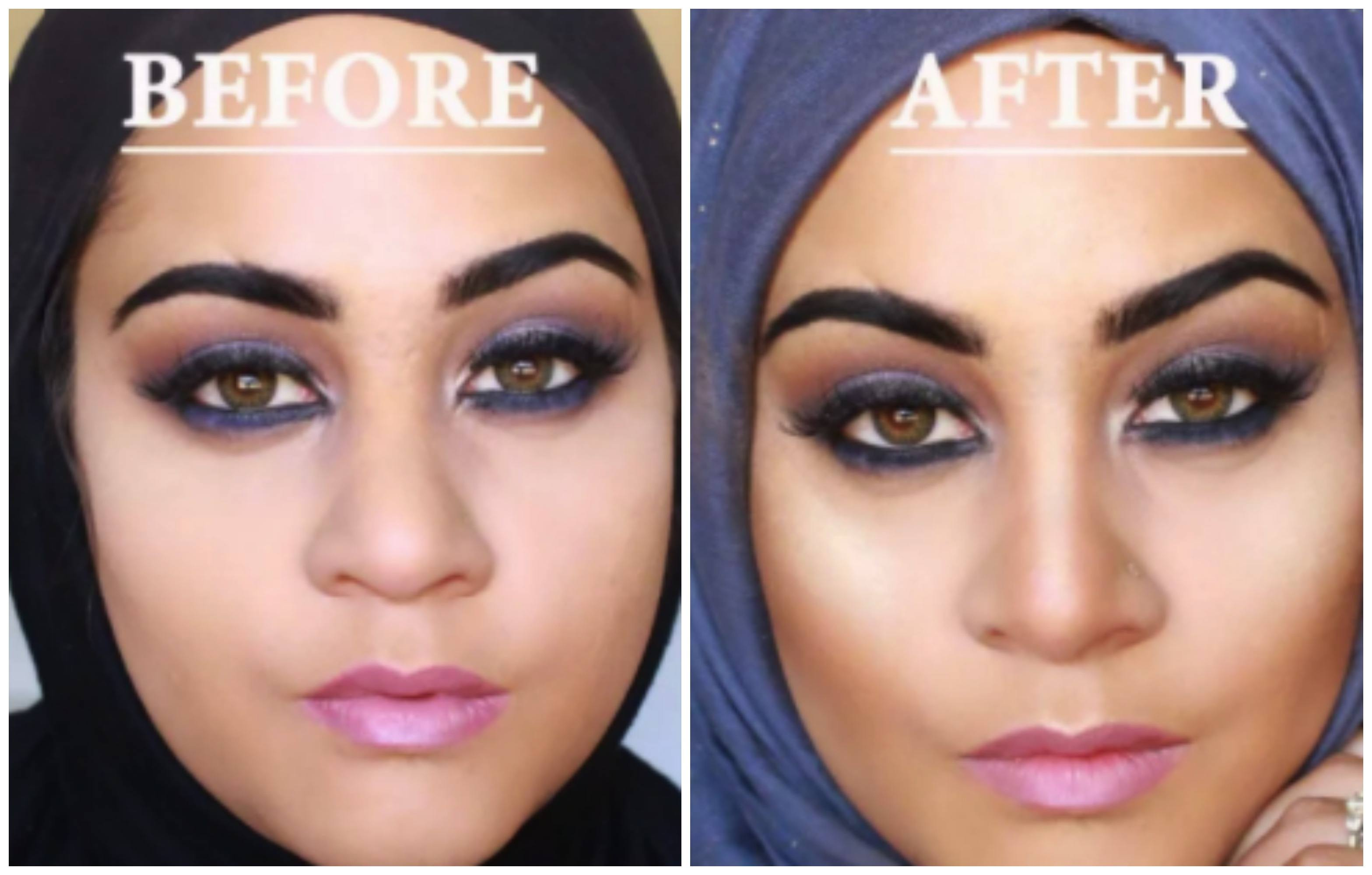 makeup-for-curvy-hijabis 18 Popular Hijab Fashion Ideas for Plus Size Women