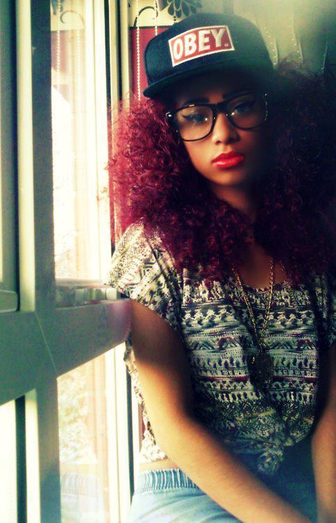 red-hair-african-teenage-girls- 20 Cute Hairstyles for Black Teenage Girls