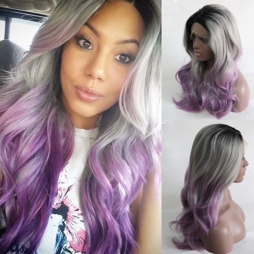 purple hair ideas for black african girls