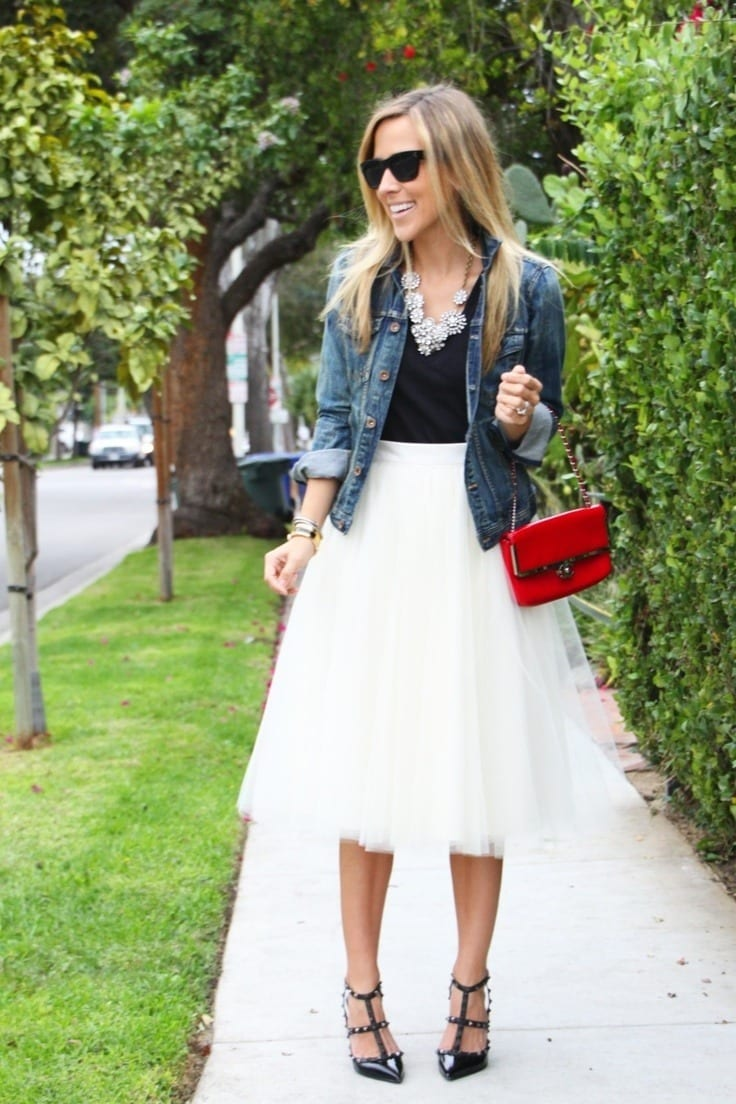 tulle-skirts-styling-tips How to Wear Tulle Skirt?15 Cute Outfits with Tulle Skirts