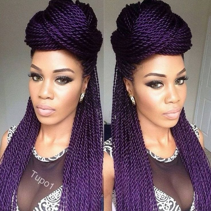 purple hairstyles for black girls