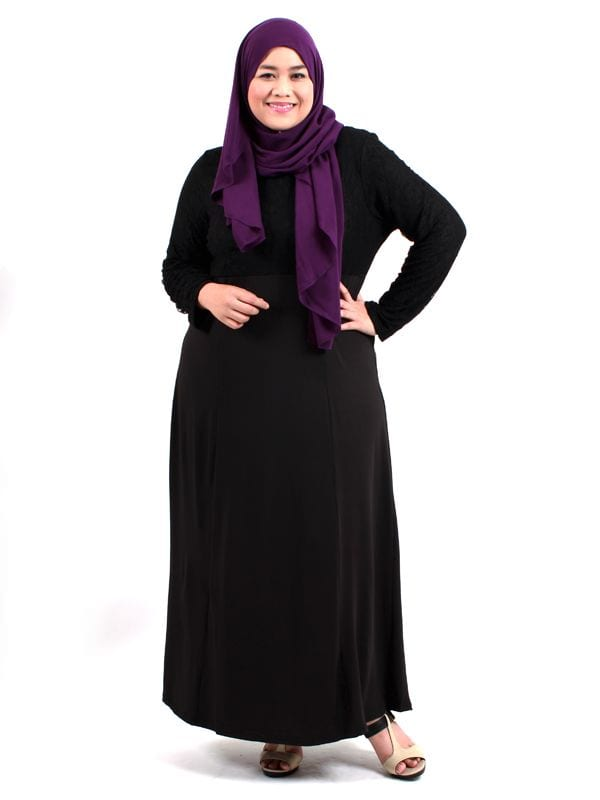 2015-Plus-size-abayas Plus Size Abaya Fashion-14 Stylish Abaya's for Curvy Women