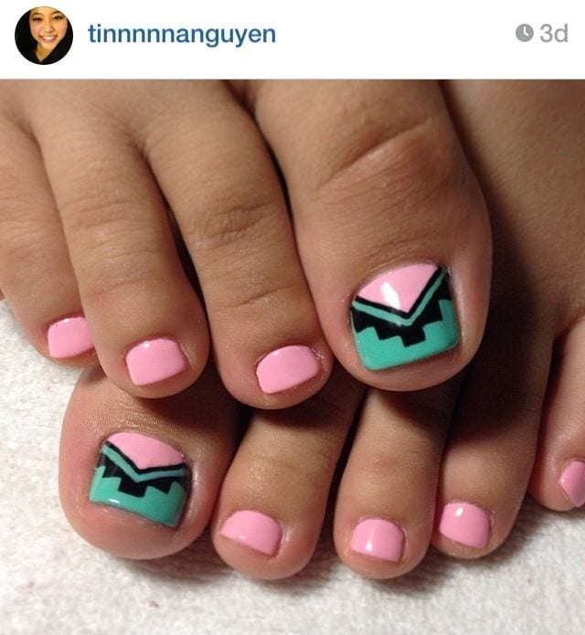 Funky toe nail art 15 cool toe nail designs for teenage girls - Cute nail art designs to do at home ...