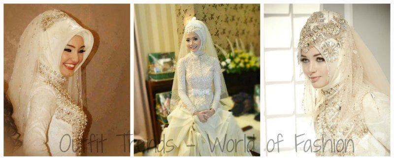 Bridal Hijabs styles