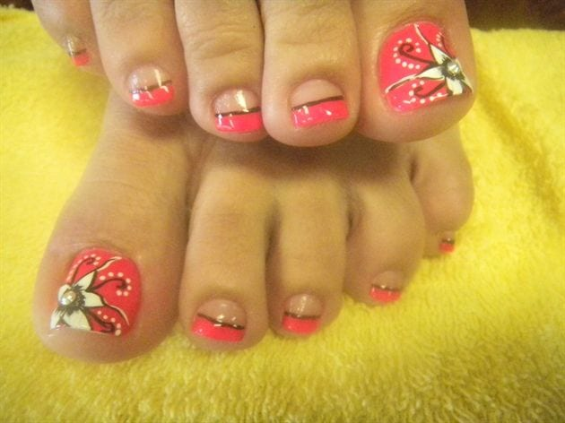 Toe Nail Designs Ideas toe nail design idea Cute Toe Nail Designs