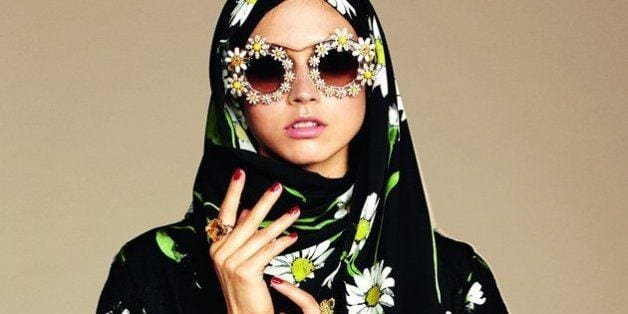 D-G-branded-glasses-with-hijab Hijab With Glasses-17 Ideas to Wear Sunglasses with Hijab
