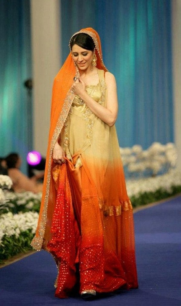 Designers-Mehndi-Dresses 15 Stylish Pakistani Mehndi Dresses Collection this Season