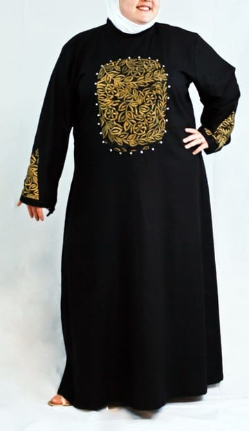 Embroided abayas plus size women