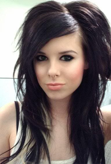 Emo-Hair 45+ Funky Hairstyles for Teenage Girls To Try This season