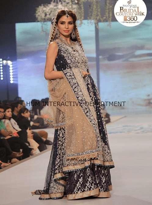 Fashion-Shows-Mehdni-Dresses 15 Stylish Pakistani Mehndi Dresses Collection this Season