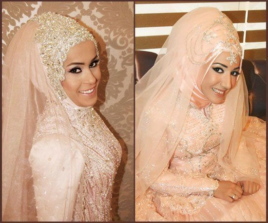 Hijab wedding dress photos