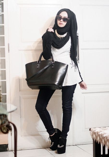 Outfittrends Funky Hijab Style-16 Cool Ideas To Wear Hijab For Funky Look