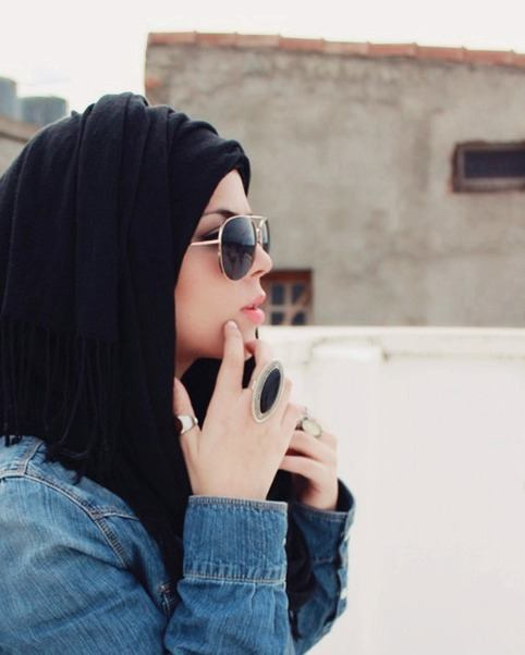 Hijabi-chics Hijab With Glasses-17 Ideas to Wear Sunglasses with Hijab