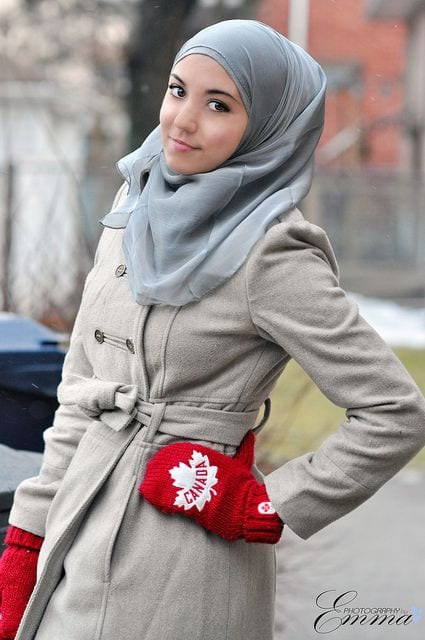 How to style hijab in winters