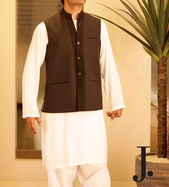 Junaid-Jamshed-Stylish-Waistcoats-Collection-2013-For-MEN-2 12 Men's Stylish shalwar Kammez Waistcoats Combinations