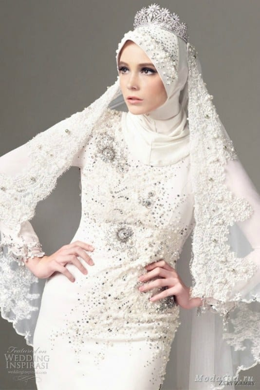 Latest style hijab wedding gowns