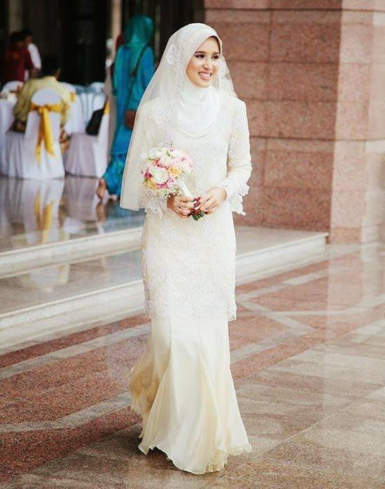 Latest style hijab wedding photos