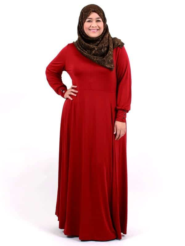 Latest-style-plus-size-abaya Plus Size Abaya Fashion-14 Stylish Abaya's for Curvy Women