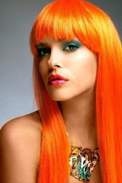 Orange-Hairstyles 45+ Funky Hairstyles for Teenage Girls To Try This season