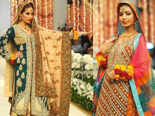 Pakistan-Mehdni-Outfits 15 Stylish Pakistani Mehndi Dresses Collection this Season