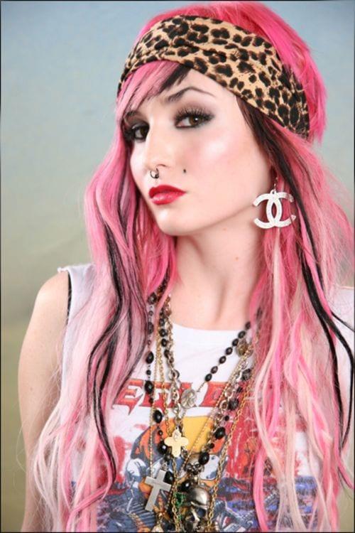 Pink Hairstyle teenage girls