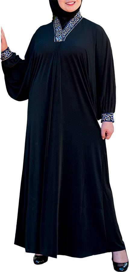 Plus size silk abayas fashion