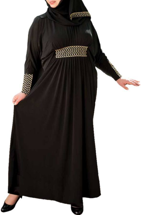 Plus-size-women-abaya-styles Plus Size Abaya Fashion-14 Stylish Abaya's for Curvy Women