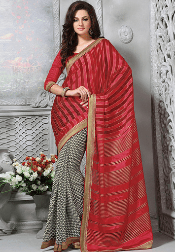 Stylish-Saree-Designs 14 Most Elegant Saree Designs - Saree Wearing Tips and Ideas