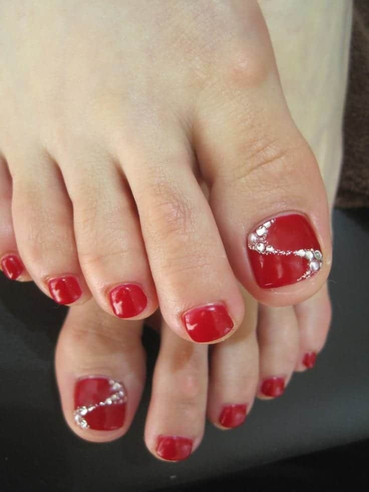 Pin Red Toe Nail Art on Pinterest