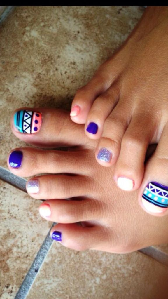 Toe-Nail-Designs-576x1024 Funky Toe Nail Art-15 Cool Toe Nail Designs For Teenage Girls