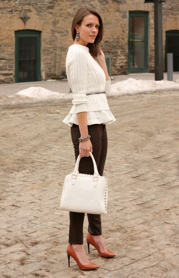 Winter Peplum tops outfits