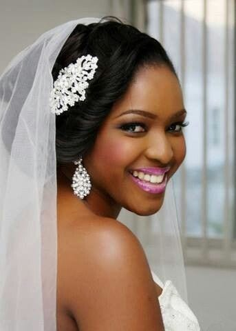 black women wedding makeup