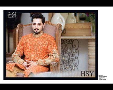 hsy designer sherwani for mehndi groom