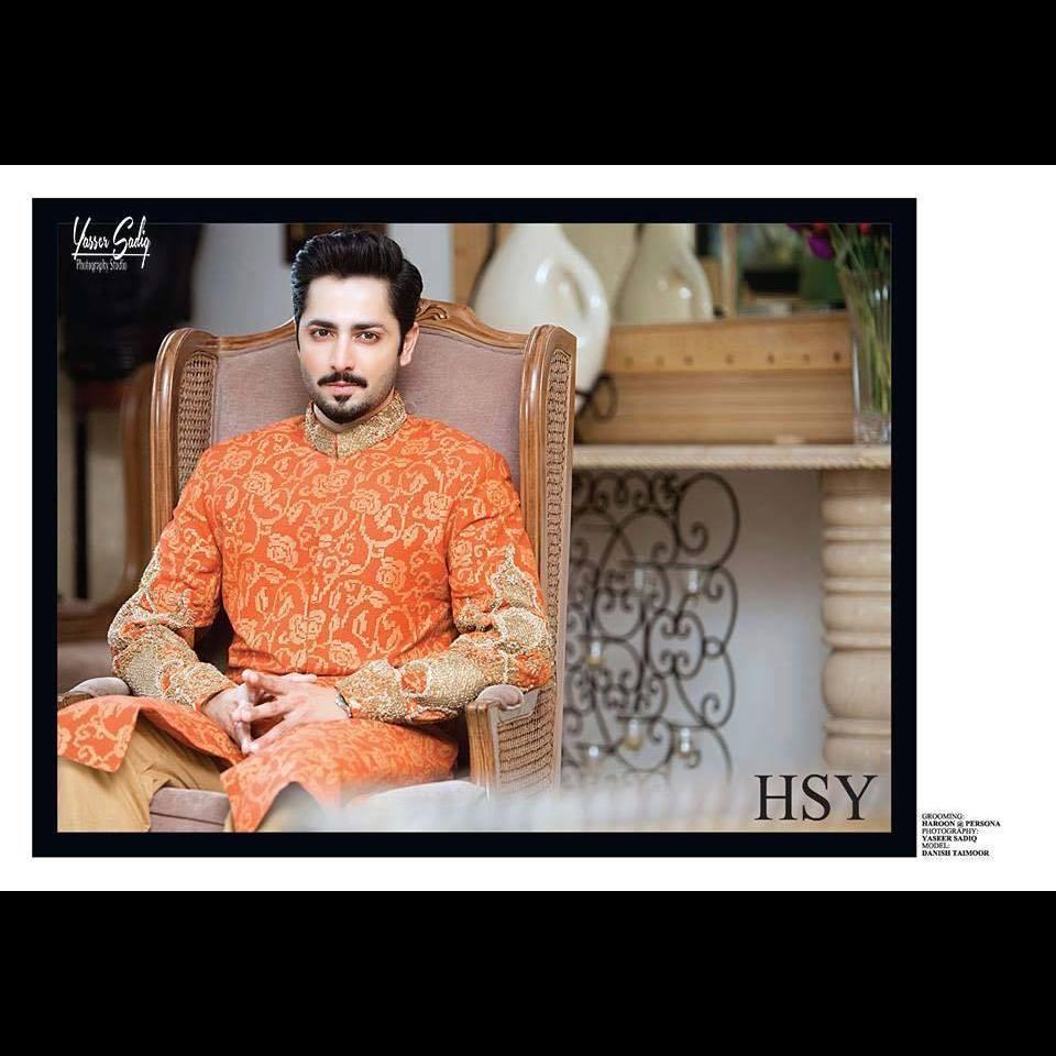 hsy-designer-sherwani-for-mehndi-groom 12 Stylish Pakistani Groom Mehndi Dresses for This Season