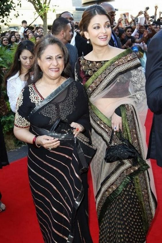jaya-bachchan-saree-style 14 Most Elegant Saree Designs - Saree Wearing Tips and Ideas