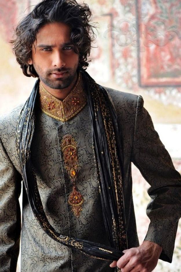 mehndi-groom-hairstyle-beard- 12 Stylish Pakistani Groom Mehndi Dresses for This Season
