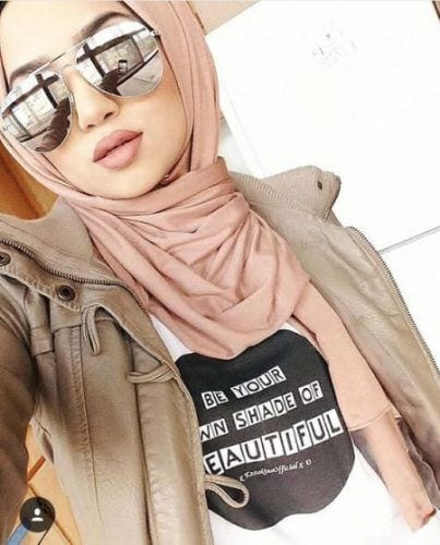 mirror-sunglasses-with-hijab Hijab With Glasses-17 Ideas to Wear Sunglasses with Hijab