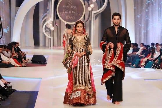 pakistani-bride-black-and-red-dress 10 Most Stylish Pakistani Bridal Dresses for This Season