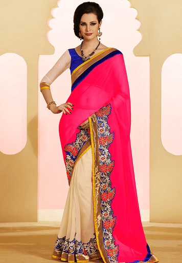 sarees-matching-ideas 14 Most Elegant Saree Designs - Saree Wearing Tips and Ideas