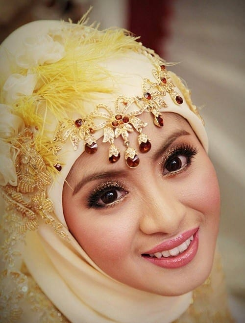 hijab wedding jewelry