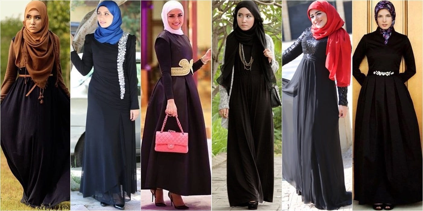 Abaya-street-style Hijab Outfits for Teenage Girls - 20 Cool Hijab Style Looks