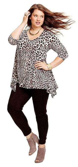 Animal print top plus size