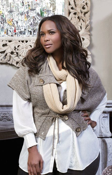 Black-curvy-women-winter-style Plus Size Winter Outfits-14 Chic Winter Style for Curvy Women