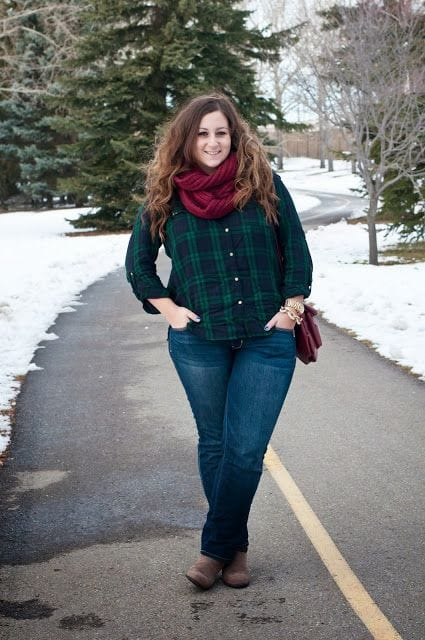 Casual-winter-outfits-plus-size-women Plus Size Winter Outfits-14 Chic Winter Style for Curvy Women