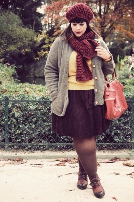 Fat-women-Winter-outfits Plus Size Winter Outfits-14 Chic Winter Style for Curvy Women