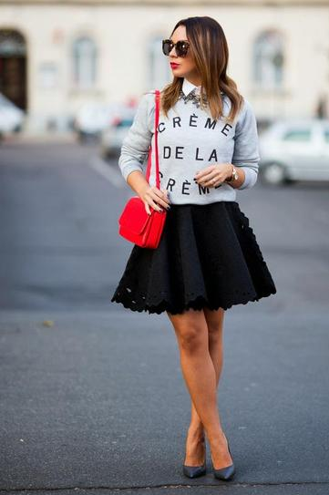 How to wear skirt on date night