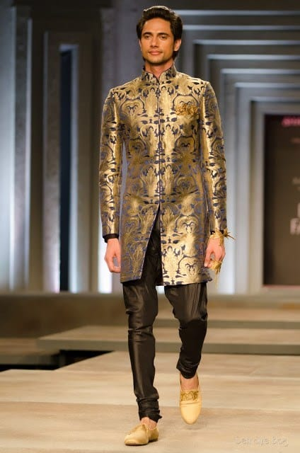 Indian men sherwani style