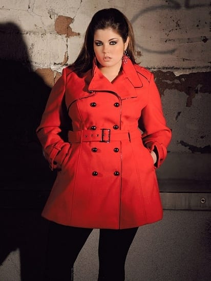 Long-coats-for-plus-size Plus Size Winter Outfits-14 Chic Winter Style for Curvy Women